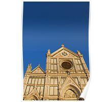 Basilica di Santa Croce in Florence Poster