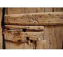 Old Wooden Door with Padlock Photographic Print