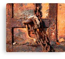 Rusted Chain and Door Canvas Print
