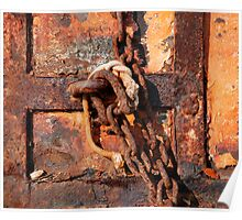 Rusted Chain and Door Poster
