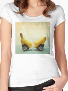 Banana Splitmobile Women's Fitted Scoop T-Shirt