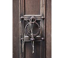 Silly String on Door Knocker Photographic Print