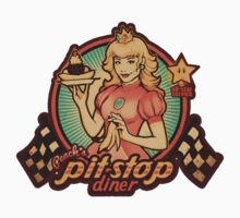 Peach's Pit Stop Diner - STICKER by MeganLara