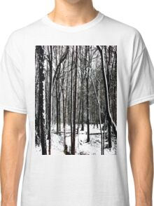 Snow Covered Woodland Essex Classic T-Shirt
