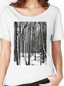Snow Covered Woodland Essex Women's Relaxed Fit T-Shirt