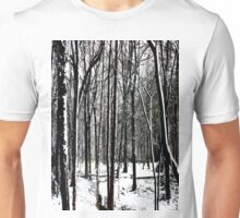 Snow Covered Woodland Essex Unisex T-Shirt