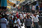 Bazaar scene in Istanbul by Jens Helmstedt