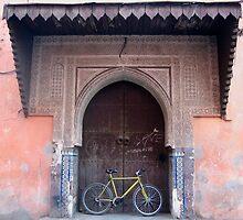 Bike in Old Ornate Doorway, Marrakech by jojobob