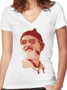 Bill Murray - Zissou Women's Fitted V-Neck T-Shirt