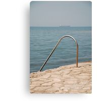 Izola Seafront Swimming Rail Canvas Print