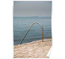 Izola Seafront Swimming Rail Poster