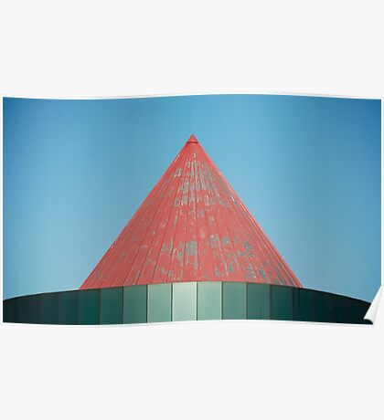 Red Metal Roof Poster