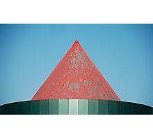 Red Metal Roof Photographic Print
