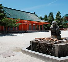 Purifiaction Fountain, Heian-Jingu Shrine by jojobob