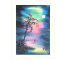 Palm Tree Walk Art Print