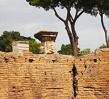 Wall, Roman Forum by jojobob