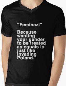 Feminazi Mens V-Neck T-Shirt