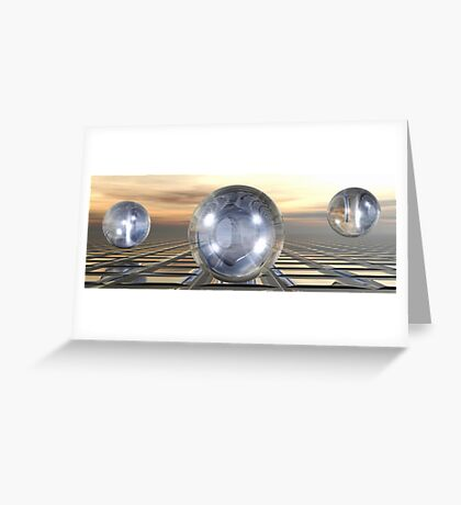Three Spheres Greeting Card