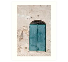 Door in Caveoso Sassi, Matera Art Print