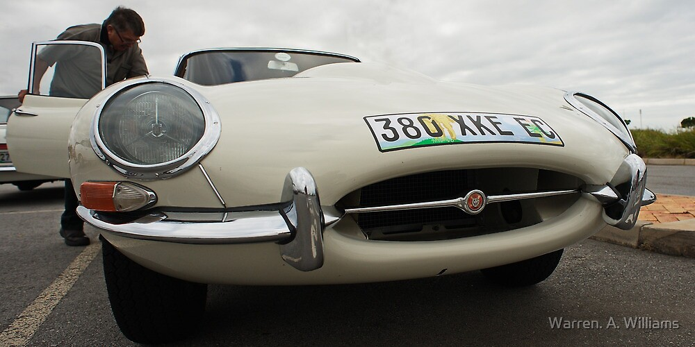 E Type Up Close by Warren. A. Williams