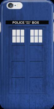 Doctor Who - Tardis (Textured) by raincarnival