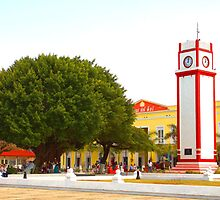 The Clock Tower in Cozumel, Mexico. by ctjones51