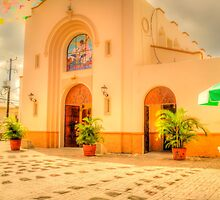 The Church in Downtown Cozumel, Mexico by ctjones51