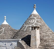 Symbols on Trulli Roofs, Alberobello by jojobob