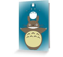 Totoro Totem with Detail Greeting Card