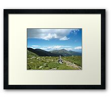 Presidential Mountain Range Framed Print