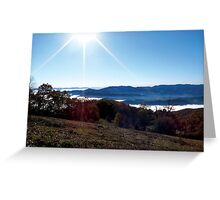 Cheoah Bald on a Clear Fall day Greeting Card