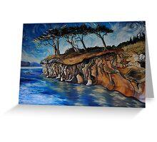Saturna Cliffs (Saturna Island) Greeting Card