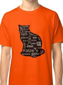 A Cat of Many Languages Classic T-Shirt