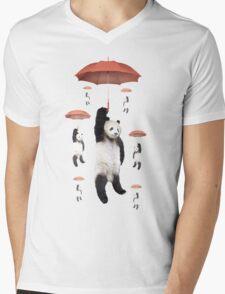 Pandachutes Mens V-Neck T-Shirt