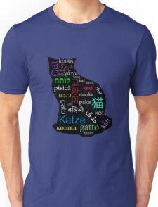 A Cat of Many Languages Unisex T-Shirt