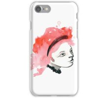 Redhead Watercolor girl iPhone Case/Skin