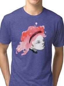 Redhead Watercolor girl Tri-blend T-Shirt