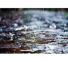 meet the rain Photographic Print