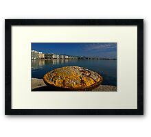 salonika port Framed Print