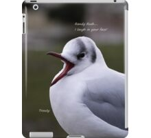 Laughing Black Head Gull - with text iPad Case/Skin