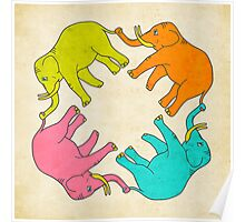 ELEPHANTS ON PARADE Poster