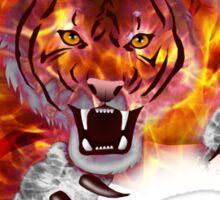 Fire Tiger Sticker