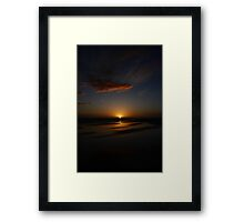 Mirror Beach Sunset Framed Print