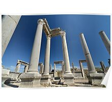 Ancient columns of Perge Poster