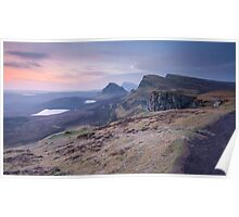 Isle of Skye : Quiraing Moonset Poster
