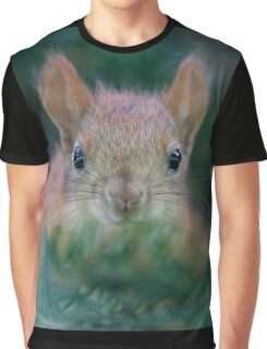Baby Squirrel in the Fur Tree Graphic T-Shirt