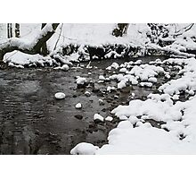 Snowy Brook Photographic Print