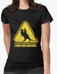 Beware! Tauntaun Crossing! Womens Fitted T-Shirt