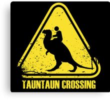 Beware! Tauntaun Crossing! Canvas Print