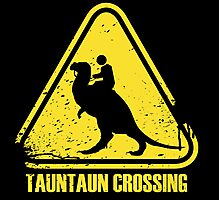 Beware! Tauntaun Crossing! Photographic Print